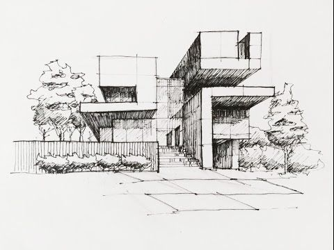 Architectural Sketch By Lt Khang Drawing Technique Modern Architecture In 2020 Architecture Design Sketch Architecture Drawing Art Architecture Concept Drawings
