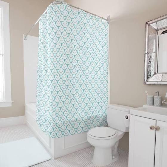 Little Mermaid Bathroom Decor Black Shower Curtains Patterned