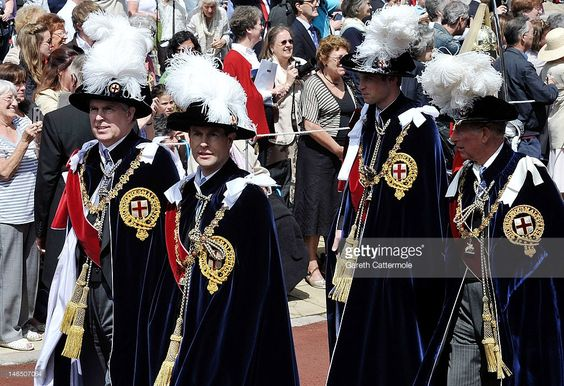 Prince Andrew, Duke of York, Prince Edward, Earl of Wessex, Prince William, Duke of Cambridge and Prince Charles, Prince of Wales attend the annual Order of the Garter Service at St George's Chapel, Windsor Castle on June 18, 2011 in Windsor, England. The Order of the Garter is the senior and oldest British Order of Chivalry, founded by Edward III in 1348. Membership in the order is limited to the sovereign, the Prince of Wales, and no more than twenty-four members.