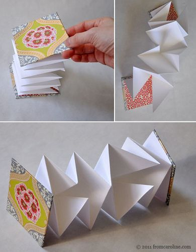 Accordion book, Tiny spaces and How to make an