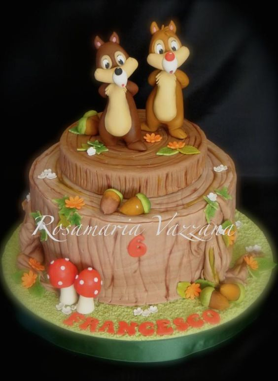 """the last pinner said, """"CIP AND CIOP CAKE"""" i'm not sure what that person was thinking because that is chip and dale"""