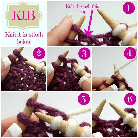 Knit Stitch Together With Stitch Below : The stitch, Stitches and Knits on Pinterest