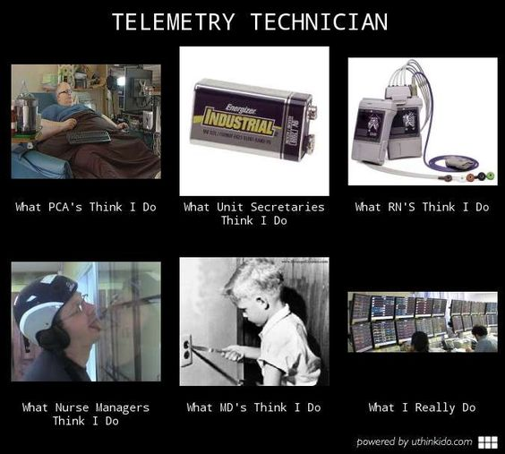 Telemetry technician, What people think I do, What I really do - pca job description