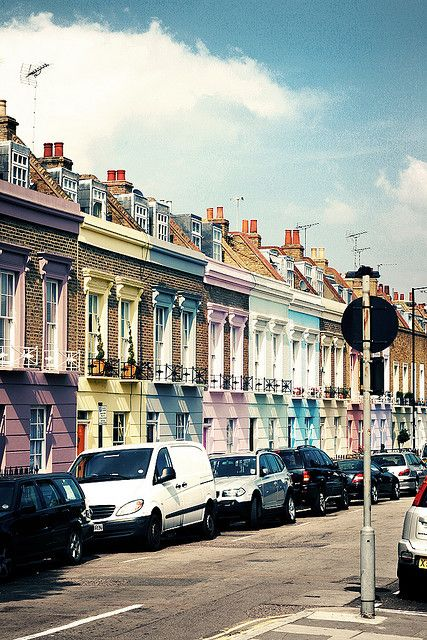 Candy coloured houses