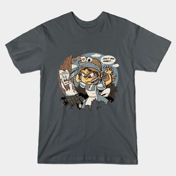 DON'T RUN RABBIT T-Shirt - Alice in Wonderland T-Shirt is $14 today at TeePublic!