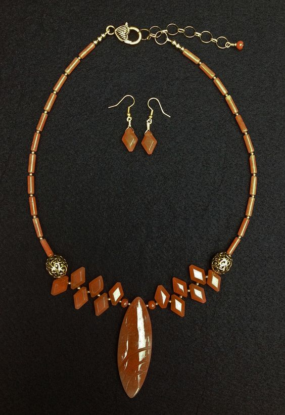 alley cat jewelry studios orange adventurine and gold