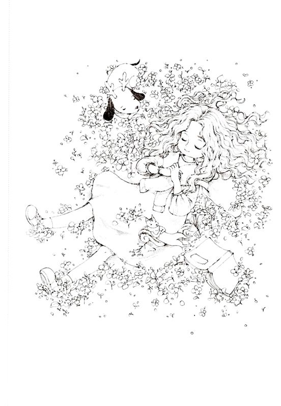 Forest Girl S Coloring Book Vol 2 Premium Edition By Aeppol Forest Girls Korean Colouring Book By Aeppol Forest Girl Coloring Books Coloring Pages For Grown Ups