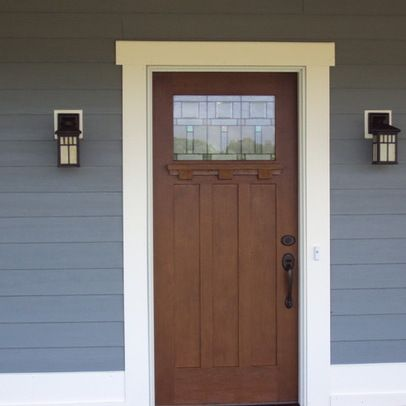 Craftsman exterior door trim exterior front door trim for Entry door installation