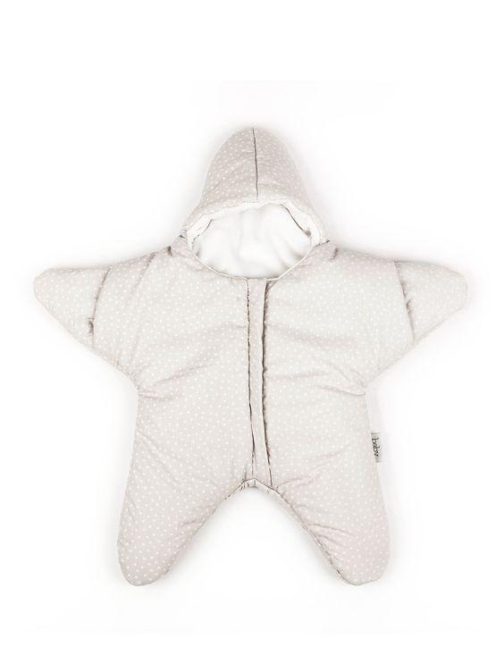 Saco Estrella beige para bebés hasta los 3-4 meses de Baby Bites  #baby #star