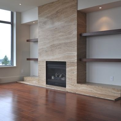 Fireplace Walls love the fireplace with logs below! | d e s i g n d e t a i l s