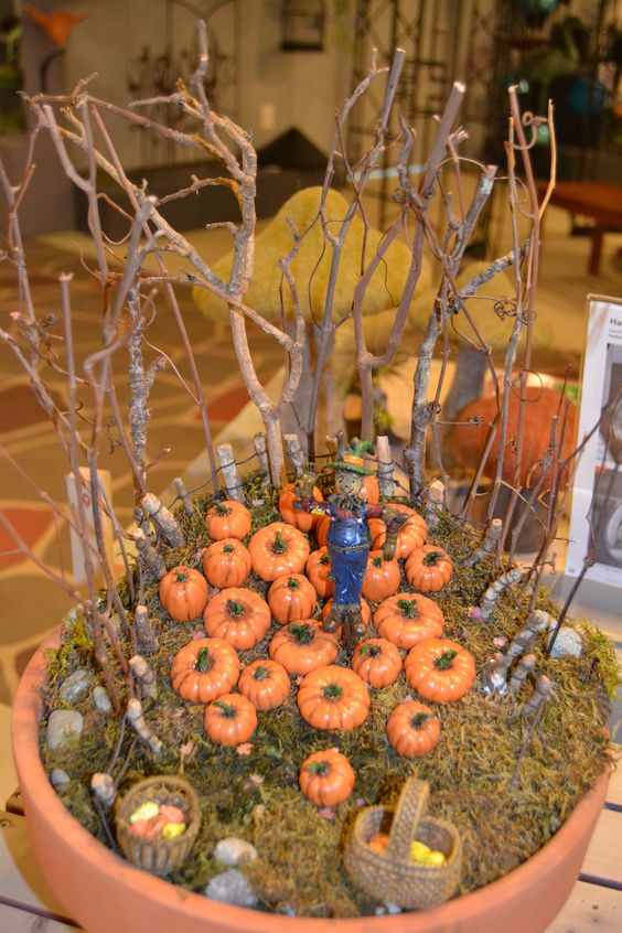 Fall Fairy Garden Idea: