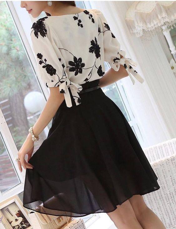 Vestidos gasa estampado de flores Retro (http://es.aliexpress.com/store/product/2015-Fashion-Summer-Ladies-Vestidos-Retro-Flower-Print-Chiffon-Shirt-chiffon-floral-blouse-Women-short-Sleeve/1681124_32339317784.html?spm=2114.04020108.3.134.cvhDB1&ws_ab_test=201407_4,201444_5,201409_3)