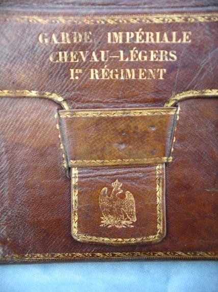 Regimental stamped portfolio. (detail)