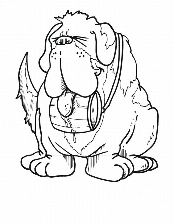 St Bernard Coloring Pages Google Search Bears