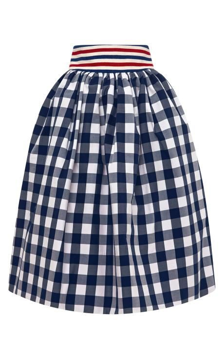 Primula Gingham Skirt by Stella Jean Now Available on Moda Operandi