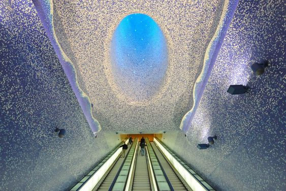 Metro station in Naples, Italy - Imgur