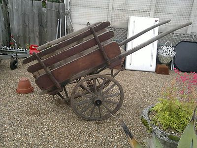 Old Victorian wooden hand cart. Cool!