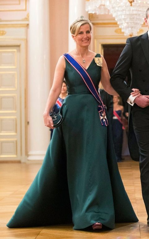 May 2017 Countess of Wessex in Oslo, Norway for the 80th Birthday of the King and Queen.