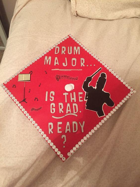 My graduation cap. I was the drum major at my high school.