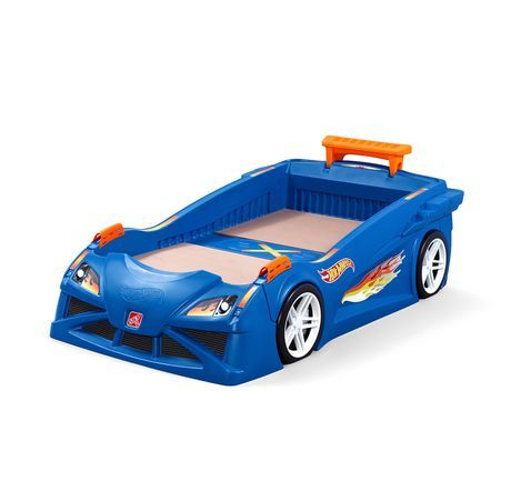 Step2 Hot Wheels Toddler To Twin Race Car Bed Blue Kid Beds