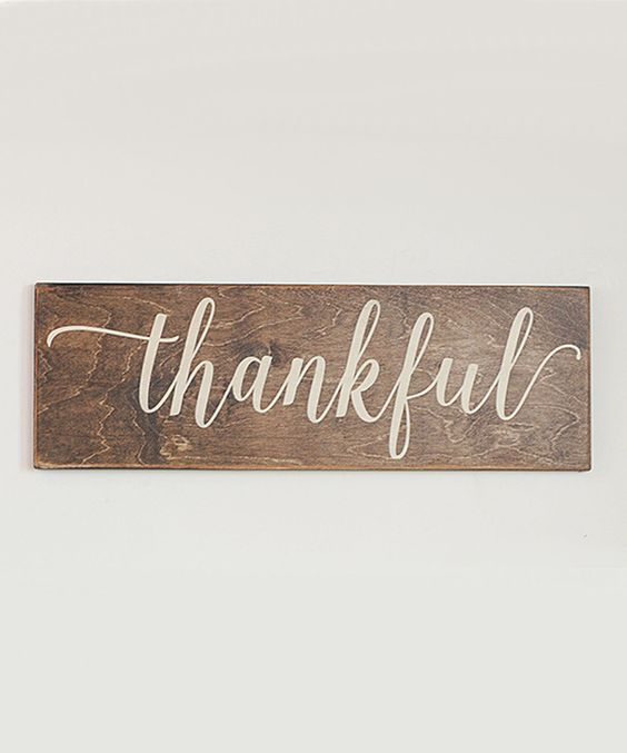 Look at this #zulilyfind! Vinyl Crafts Brown 'Thankful' Distressed Hand-Painted Sign by Vinyl Crafts #zulilyfinds: