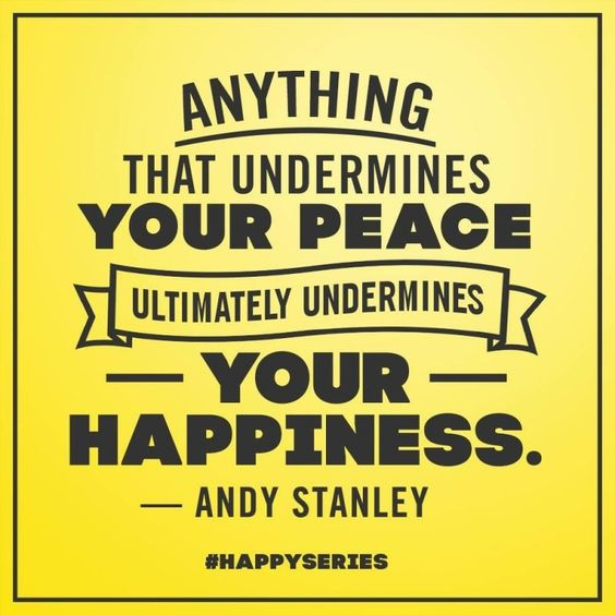 Anything that undermines you peace ultimately undermines your happiness. — #AndyStanley | Connections | What Makes You Happy, Week 1 #HappySeries | We all daydream about a trouble-free life made possible by something: a dream job, house, car, spouse, child, family, or pile of money. But what if no thing can make us happy?