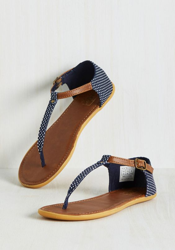 navy blue summer sandals