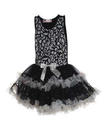 Look what I found on #zulily! Black & White Tutu Dress - Toddler & Girls by Popatu by Posh #zulilyfinds