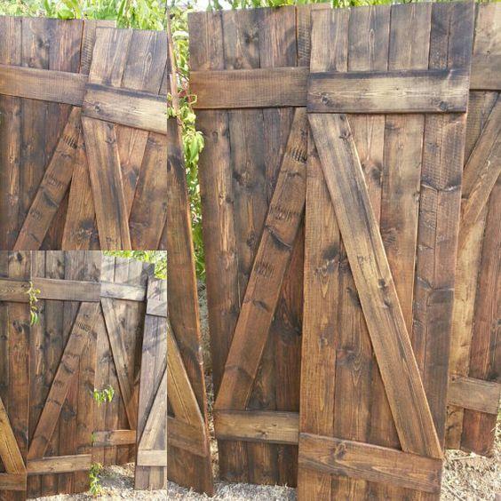 unique wooden nail z bar rustic handmade shutter set includes 2 interior shutters hanging. Black Bedroom Furniture Sets. Home Design Ideas