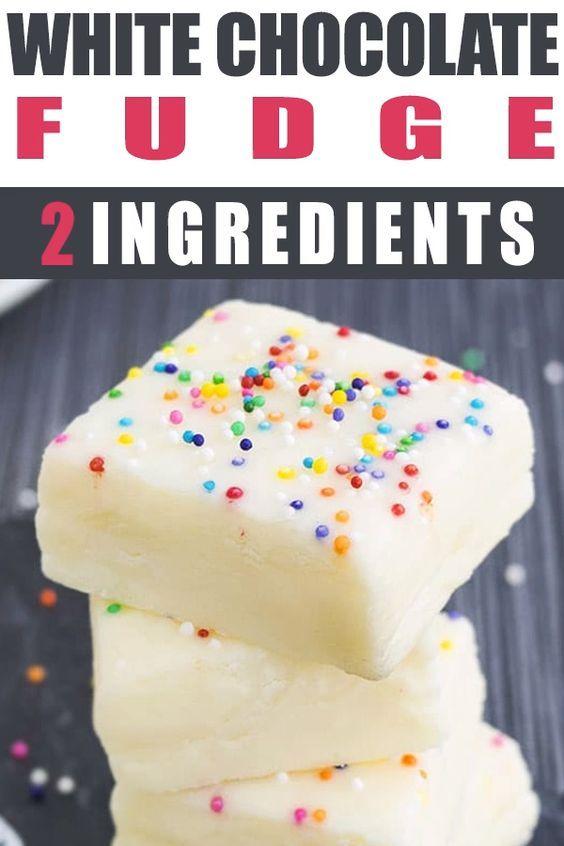 This Easy No Bake 2 Ingredient White Chocolate Fudge Recipe Requires Only Condensed Milk Fudge Recipes Chocolate Fudge Recipes White Chocolate Fudge Recipes
