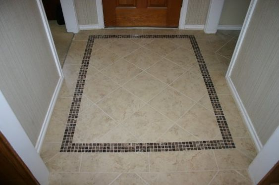 Tile patterns for entryways tile mosaic entryway for Foyer tile patterns