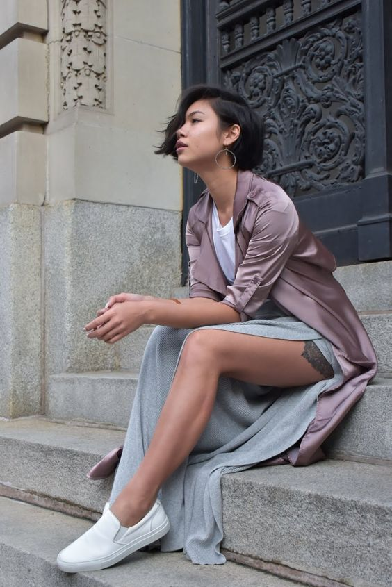 FashionDRA | Fashion Inspirations : The Statement Satin Duster Coat
