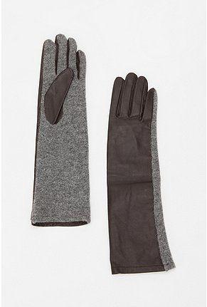 Deena & Ozzy Long Leather & Wool Glove