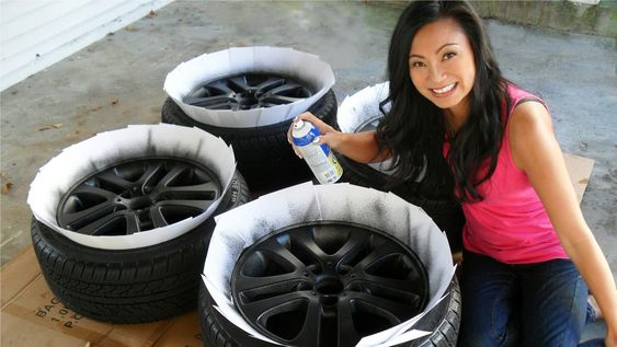 how to plasti dip car rims in matte black this spray is like paint. Black Bedroom Furniture Sets. Home Design Ideas