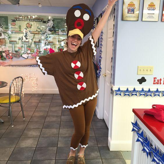 Christmas in July gingerbread man costume 2015  diy Halloween