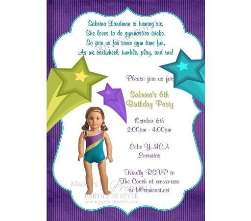 American Girl Printable Birthday Invitation