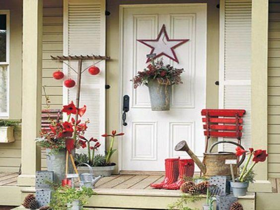 großartige Weihnachtsdekorationen stern rot idee
