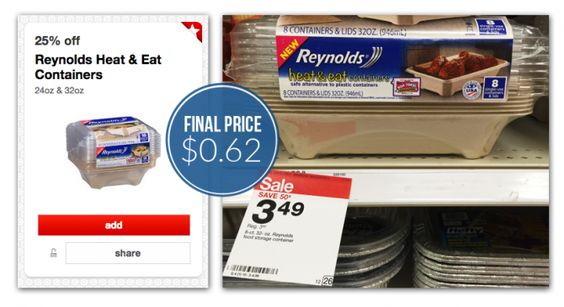 Reynolds Heat & Eat Containers, Only $0.62 at Target!