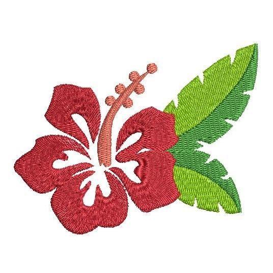 Hawaiian Hibiscus Flower Flower Machine Embroidery Designs Flower Embroidery Designs Embroidery Designs
