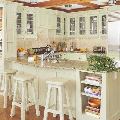u shaped kitchen with breakfast bar