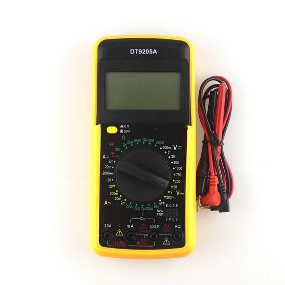 $12.35 (Buy here: http://appdeal.ru/4bvz ) DT9205A Digital Multimeter Test AC/DC AMP VOLT Resistance Capacitant Ammeter voltmeter LCD display Portable for just $12.35