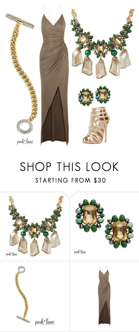 """The Grove"" by parklanejewelry on Polyvore featuring Park Lane, Balmain, Steve Madden, women's clothing, women, female, woman, misses and juniors"