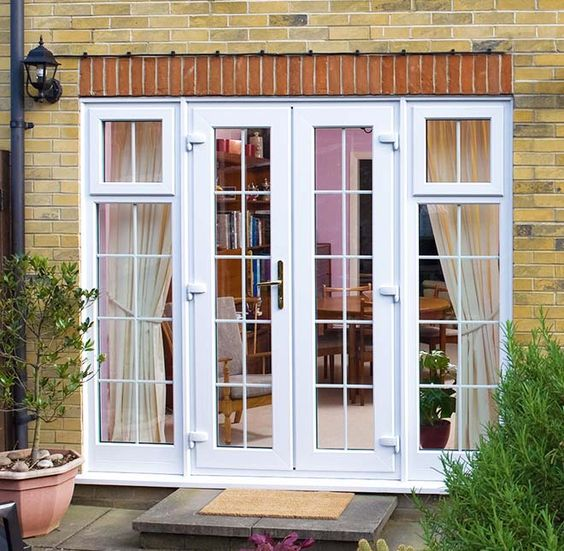 Upvc french doors double glazed french doors everest for Double glazed porch doors