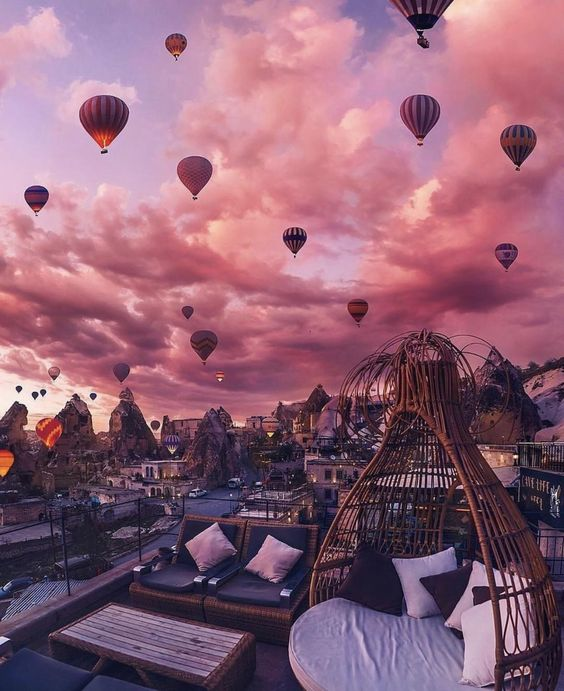 People go to Cappadocia, Turkey specifically for hot air balloon tours : MostBeautiful