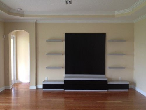 Entertainment Console modern media room - perfect for the basement