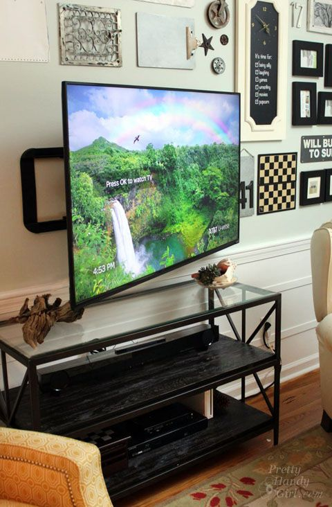 Installing a Wall Mount Flat Screen TV   Hiding Cords | PrettyHandyGirl