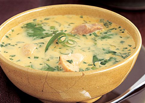 Curried Chicken-Coconut Soup #paleo
