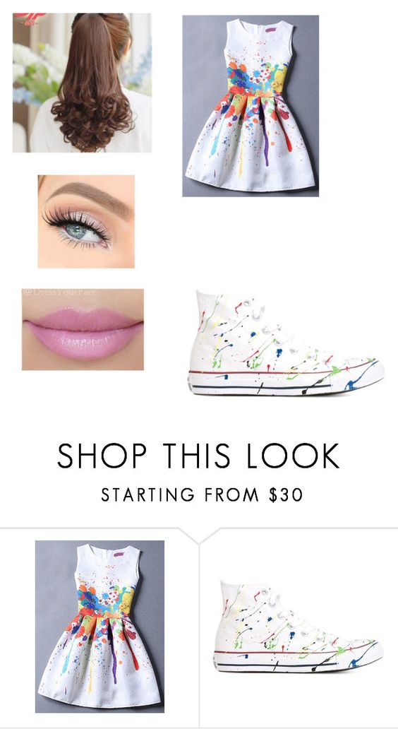 """""""KCA 2016"""" by aziz-reyan ❤ liked on Polyvore featuring Converse and Pin Show"""