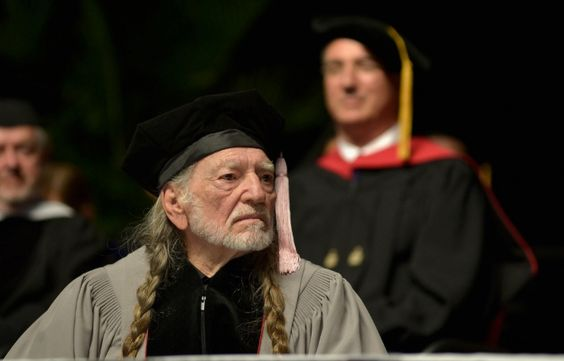 Willie Nelson receives an Honorary Doctor of Music Degree during the 2013 Berklee College Of Music Commencement Ceremony at Berklee College of Music on May 11, 2013 in Boston.