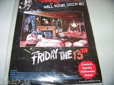 6 PC Halloween Prop Wall Decor Kit Scene Setter 2012 Friday The 13th Jason Voorhees | eBay bought 2012
